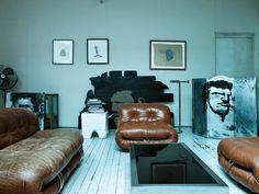 Nice 1970s leather Soriana sofa & chairs