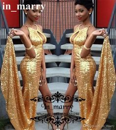 Gold Sequined Sexy Keyhole Split Mermaid Prom Dresses 2017 Backless Couple Fashion Plus Size Cheap Yousef Aljasmi Formal Evening Party Gowns 2K16 Prom Dresses Dresses Party Evening Long Prom Dresses Online with $165.72/Piece on In_marry's Store   DHgate.com