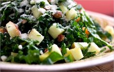 Kale Salad With Apples, Cheddar and Toasted Almonds