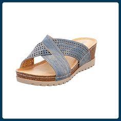 Q-Schuh Pantl-ab30mm-Abs Größe 40 Blau (8Blau) - Clogs für frauen (*Partner-Link)