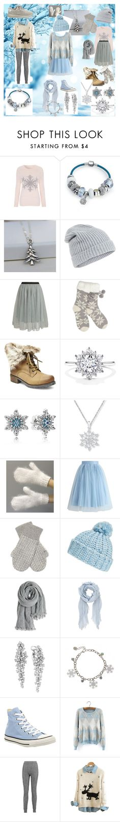 """""""Let it snow"""" by punkrocket ❤ liked on Polyvore featuring Bling Jewelry, Accessorize, Relaxfeel, Lipsy, Steve Madden, Pandora, Chicwish, White + Warren, BP. and Calypso St. Barth"""