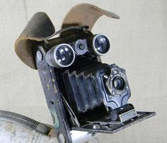 SALE  SCRUFFY  Robot Dog Sculpture  Reclaim2Fame by reclaim2fame, $252.00