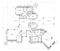 First Floor Plan of Mediterranean   House Plan 55769
