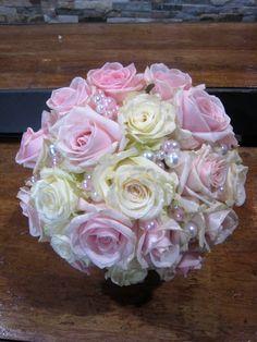 Bouquet :  Roses & Perles