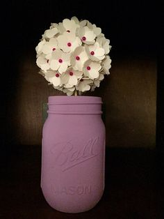 Rustic Hydrangea Bouquet in a Hand Painted by SisterActDesigns