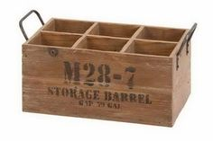 Woodland 51662 WOOD WINE CRATE   #Woodland