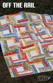 I have another new pattern to share with you! {yes i know... lots of new stuff all at once!} Off the Rail is a modern spin on a tradition...