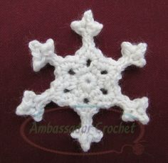 Snappy Snowflake - Free crochet snowflake pattern by Ambassador Crochet.