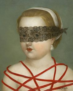 Fatima Ronquillo, Bound with Secrets, 2015, Oil on panel