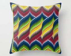 Bargello quilt style ceramic tile trivet for quilter blue Bargello Patterns, Bargello Needlepoint, Bargello Quilts, Needlepoint Pillows, Needlepoint Stitches, Needlework, Embroidery Patterns, Cross Stitch Patterns, Quilted Pillow