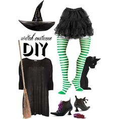 diy halloween witch costume, created by maria-maldonado on Polyvore