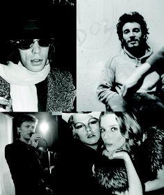Mick Jagger, Bruce Springsteen, Bebe Buell and David Bowie at Max's Kansas City