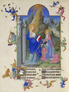 Les Très Riches Heures du duc de Berry, Folio Folio 38v - The Visitation