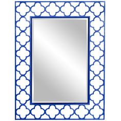 I pinned this Howard Elliot Gaelic Wall Mirror in Blue from the Preppy Pops event at Joss and Main!
