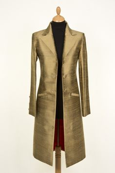 Grace Coat in Oyster Gold, Price 295.00