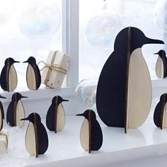 penguin decoration by lindsay interiors | notonthehighstreet.com- i love these, I have some at my office