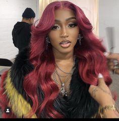Baddie Hairstyles, Black Girls Hairstyles, Pretty Hairstyles, 100 Human Hair, Human Hair Wigs, Lace Wigs, Lace Front Wigs, Hair Colorful, Curly Hair Styles