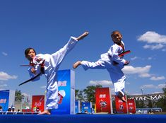 Taekwondo kids at China