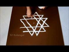 Simple star kolam / pooja kolam for navratri with dots Free Hand Rangoli Design, Small Rangoli Design, Rangoli Ideas, Rangoli Designs With Dots, Rangoli Designs Diwali, Kolam Rangoli, Rangoli With Dots, Beautiful Rangoli Designs