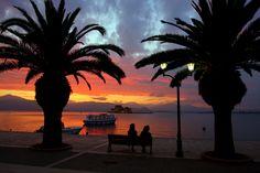 Sunshet in Nafplio, Greece