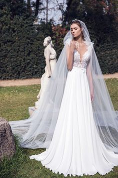 A new era begins for Costantino, with two new members joining the designing team. With Fay and Marianna,. Lace Wedding, Wedding Dresses, Campaign, Celestial, Bride, Collection, Design, Fashion, Bride Dresses
