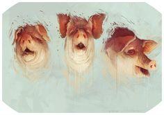 three little pigs by bradwright.deviantart.com on @deviantART