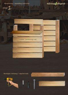 komposter aus holz selber bauen schritt f r schritt anleitung my garden pinterest. Black Bedroom Furniture Sets. Home Design Ideas