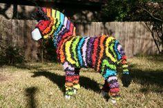 Make a Zebra - Piñata Boy