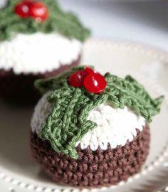 Crochet Christmas pudding pattern by Ruby & Custard - https://www.amazon.co.uk/Ruby-Custards-Crochet-Creative-projects/dp/1785030558