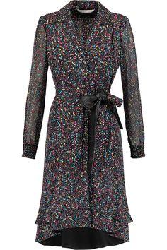 Diane von FurstenbergPrinted silk-blend wrap dress