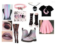 A fashion look from August 2017 featuring Dr. Martens boots and Poizen Industries gloves. Browse and shop related looks. Hipster Outfits, Pastel Goth Outfits, Pastel Goth Fashion, Pastel Outfit, Punk Outfits, Cute Casual Outfits, Cosplay Outfits, Kawaii Fashion, Cute Fashion