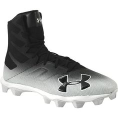 Under Armour Highlight Rm Football Cleats - Mens Black White Mens Football Cleats, Men's Football, Rogan's Shoes, Black And White Man, Highlight, Under Armour, Footwear, Pairs, Lights