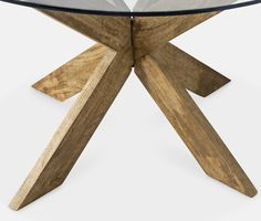 Dining table, contemporary-style in mango wood