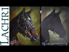 Speed Painting horse - oil over acrylic - Time Lapse Demo by Lachri - YouTube