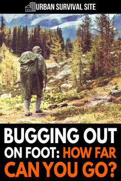 There are many reasons why you might be forced to bug out on foot. If that happens, how far could you actually go before collapsing? Survival Mode, Urban Survival, Homestead Survival, Wilderness Survival, Survival Prepping, Survival Skills, Survival Hacks, Bushcraft Skills, Bushcraft Camping