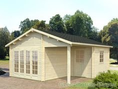Palmako Grace Log Cabin from Greenhouse Stores with Free UK home delivery.   http://www.greenhousestores.co.uk/Palmako-Grace-Log-Cabin.htm