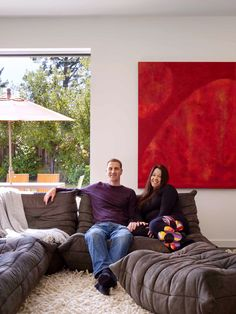 These founders of Houzz, a site that showcases the work of architects and other design professionals, are sitting on Ligne Roset's Togo collection.  From The New York Times.