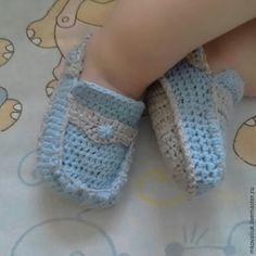 Вяжем мокасинчики для маленького модника - Ярмарка Мастеров - ручная работа, handmade