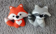 Zorro y mapache fieltro adornos de Navidad adornos por MyCraft2You