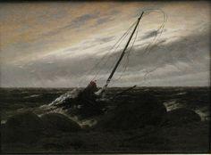 Caspar David Friedrich, Nach dem Sturm, 1817. Munich, Neue Pinakothek.