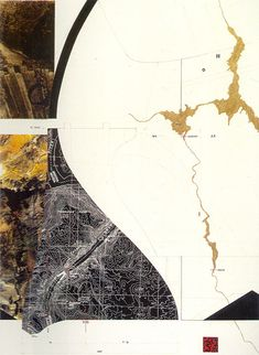 James Corner, Hoover Dam and the Colorado River, Nevada, map-drawing from Taking Measures Across the American Landscape, 1996.