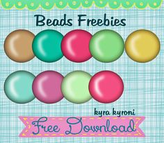Free Beads Freebies for digital scrapbookers...