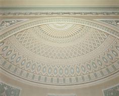 Antique Ceramic Tile Architectural Vintage Georgian Adam Style Husks Ribbon Bow