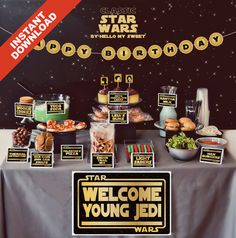 Star Wars Birthday Party Printable Decorations  by HelloMySweet, $15.00