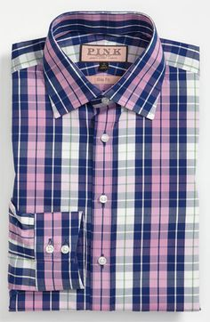 Thomas Pink Slim Fit Dress Shirt available at #Nordstrom (AA)