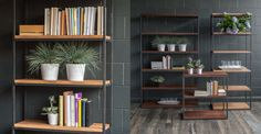 """Archive Walnut 77""""H Wide Bookcase - Storage - Article   Modern, Mid-Century and Scandinavian Furniture"""