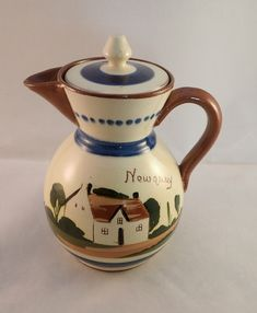 "Watcombe Pottery Motto Ware Teapot, Newquay Teapot, Cottage Ware Teapot – 17cm, 6.7"" Tall by FelthamAntiques on Etsy"