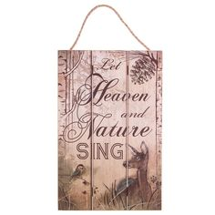 """""""Heaven and Nature Singe"""" Wall Decor 