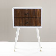 ... with cut list and photos for this Midcentury 2-Drawer Nightstand