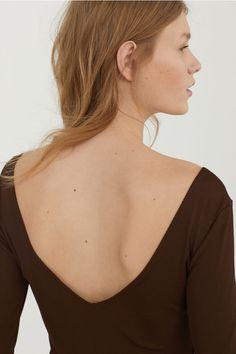 Sukienka bodycon - Ciemnobrązowy - ONA | H&M PL 3